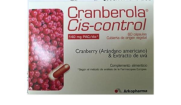 Amazon.com: ARKOPHARMA CRANBEROLA CYS CONTOL 60 CAPS CRANBERRY 140mg PAC /day Xmas Gift Skin Beauty Gift: Beauty