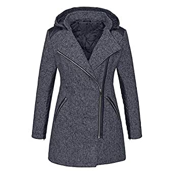 Womens Hooded Zipper Coat Plus Size Winter Clearance, Warm