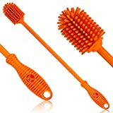 Silicone Bottle Brush | One Pack | 12.5' Bottle Cleaner for your Hydroflasks, Vacuum Sports Bottles, Vase and Glassware | Best Water Bottle Cleaning Brush for Washing Narrow Neck Containers