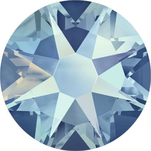 2000, 2058 & 2088 Swarovski Flatback Crystals Non Hotfix Light Sapphire Shimmer | SS20 (4.7mm) - Pack of 50 | Small & Wholesale Packs