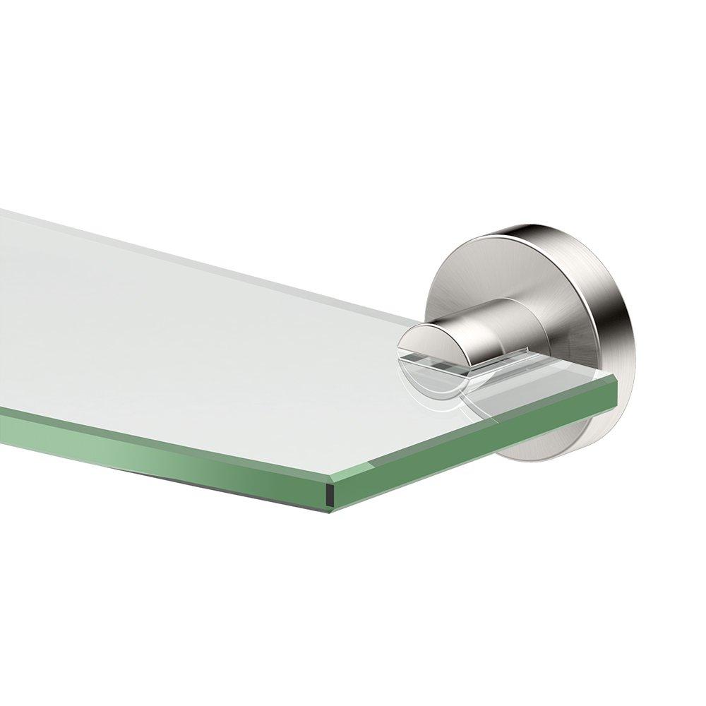 Gatco 4646 Glam Glass Shelf, 20 Inch, Satin Nickel
