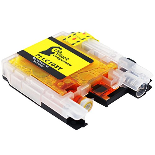 (Brother Printer LC103Y High Yield Cartridge Ink, Yellow)