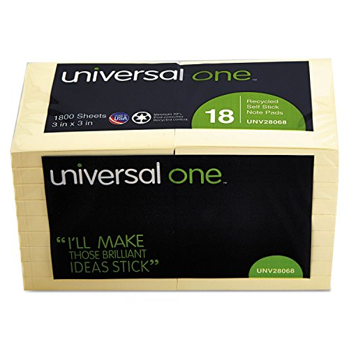 UNV28068 - Universal Recycled Sticky Notes by Universal