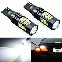 JDM ASTAR Extremely Bright Max 50W High Power 912 921 T10/T15 LED Backup Reverse LightS,Parking lights, Xenon White