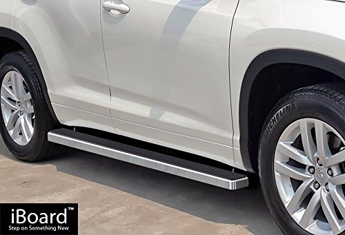 "APS IBTY5770 Silver 4"" Running Board Side Step (iBoard Th..."