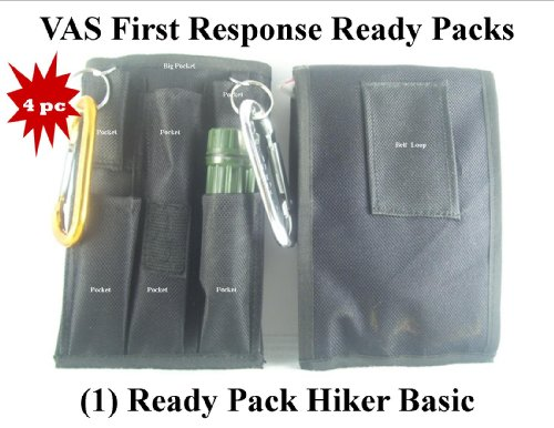 Hiker's Ready Pack – 4PC Kit For Camping, Hiking and Emergencies, Outdoor Stuffs
