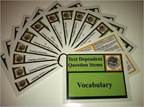 4 PACK Text Dependent Question Stems VOCABULARY READING