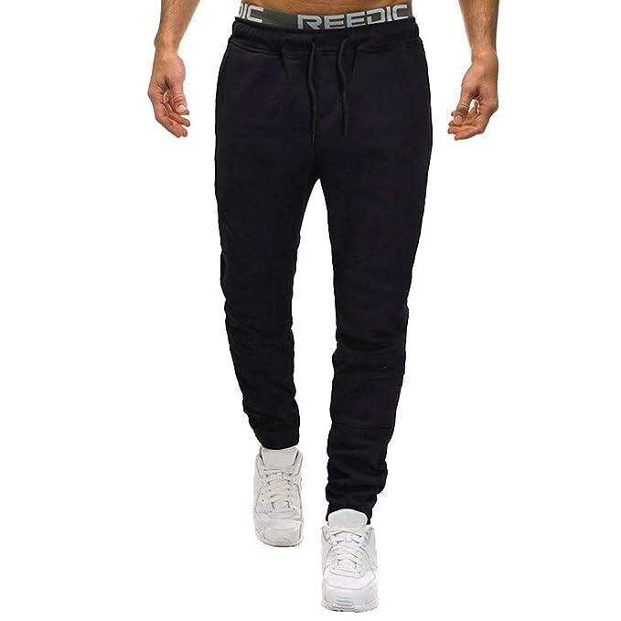 Saihui_Men Pants - Pantalón de Traje - para Hombre Negro Negro (41 ...