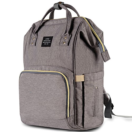 HaloVa Diaper Bag Multi-Function Waterproof Travel Backpack