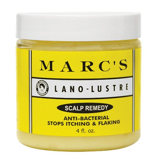 Marc's Lano-Lustre Scalp Remedy, Anti-Bacterial Stops Itching & Flaking 4oz