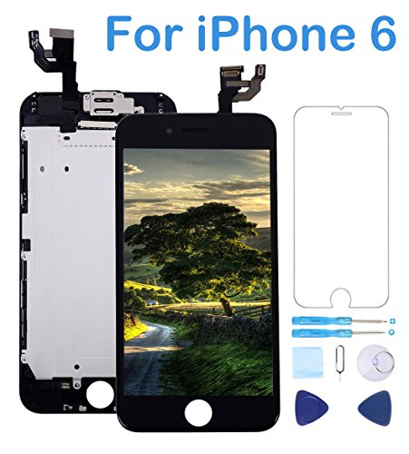 Screen Replacement Compatible for iPhone 6 Black 4.7