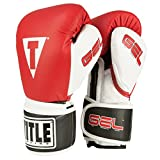 TITLE Gel Intense Training/Sparring Gloves, Red/White, 16-Ounce