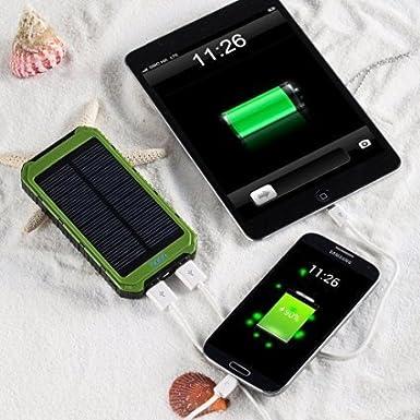 Cargador solar, ATEX 12000 mAh portátil Solar Power Bank ...