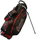 Team Golf MLB Houston Astros Fairway Golf Stand Bag, Lightweight, 14-way Top, Spring Action Stand, Insulated Cooler Pocket, Padded Strap, Umbrella Holder & Removable Rain Hood