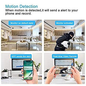 Hidden Camera WiFi Spy Camera, 1080P Clock Hidden Cam with Night Vision, 157 Angle Wireless IP Surveillance Camera for Home Security Monitor, Nanny Cam Video Recorder with Motion Detection