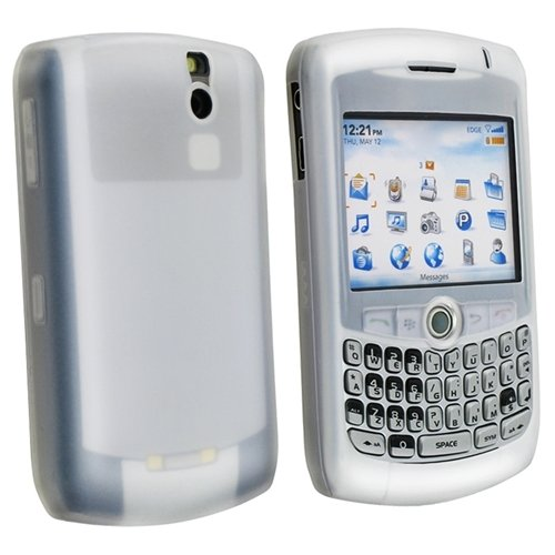 Silicone Skin Case for Blackberry Curve 8300, Clear White