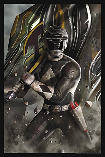 Power Rangers Limited Edition Lithograph 16' x 24''Black Ranger' by Carlos Dattoli