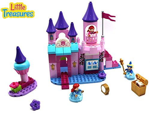 Little Treasures Princess Blocks Toy Set Build a Magnificent Castle with 95 Pieces of DIY Building Blocks Interlocking Bricks, for Girls of Age - Princess Block