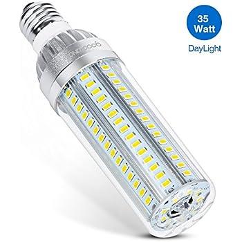 Goodland Corn LED Light Bulbs, 35W E26 Corn Bulbs (350W Equivalent), LED Corn Light 3900lm 6000K, 360° LED Light Bulbs for Large Area Street Lamp Garage Highway Warehouse Super Bright (Daylight 35W)