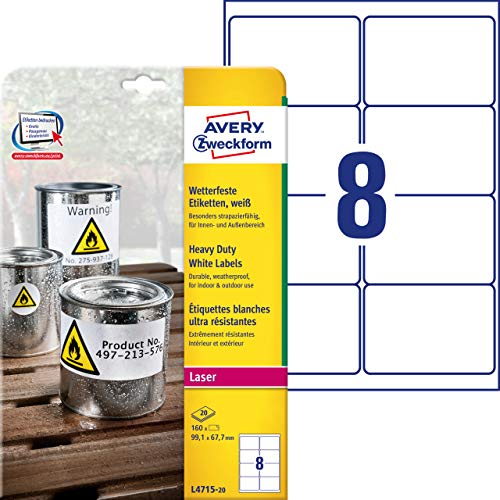 105597 - Avery Heavy Duty Labels (White)
