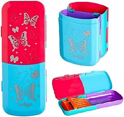 Smiggle - Estuche plegable para lápices, se puede utilizar como una taza vertical cuando se pliega _de Maxmillcolecciones de regalo: Amazon.es: Oficina y papelería