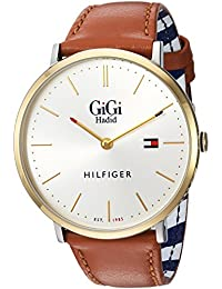 Women's 'GIGI' Quartz Gold-Tone and Leather Casual Watch, Color:Brown (Model: 1781749)