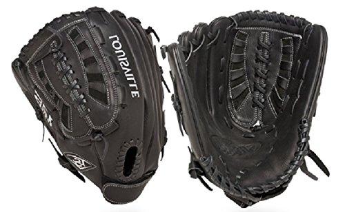 Louisville Slugger 13-Inch FG 125 Series Softball Infielders Gloves, Black, Left Hand Throw
