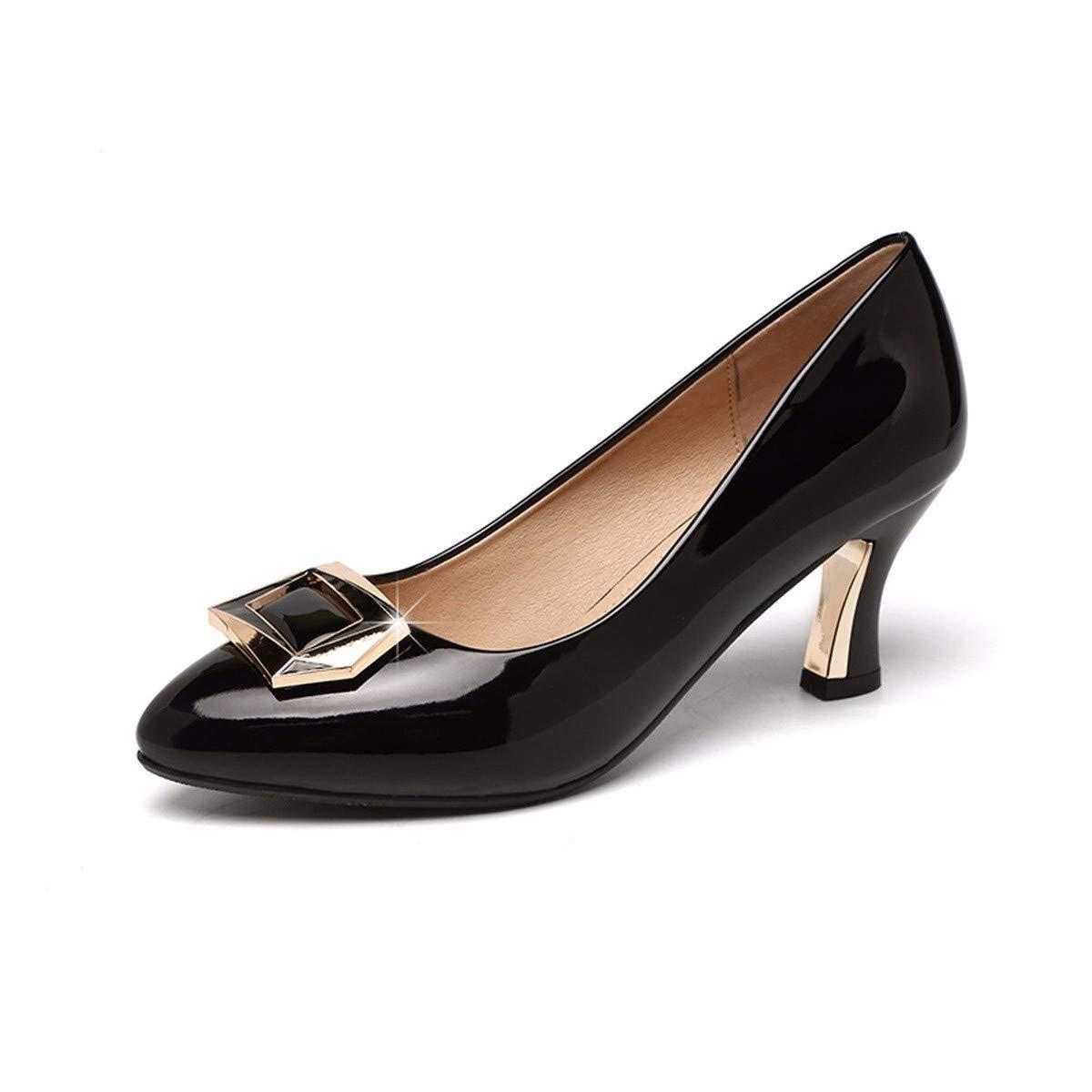 KPHY-Im Herbst der Frauen - Schuhe Sind Sehr Scharf.Sie Sind Mitte Betuchte Einzelne Schuhe Weiblich Diamond Leder High Heels und 6 cm Schuhe.