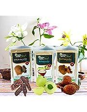 Online Quality Store Reetha Amla Shikakai Reetha Powder, 150g with Shikakai, 150g and Amla, 100g, Brown