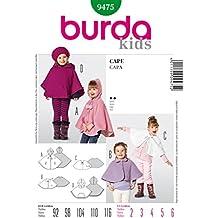 Burda Kids Cape Easy Sewing Pattern 9475