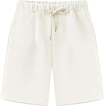Bermudas Mujer Tallas Grandes Verano Moda Color Solido Casual Anchos Cintura Elastica Plus Size Pantalones Cortos Shorts Amazon Es Ropa Y Accesorios