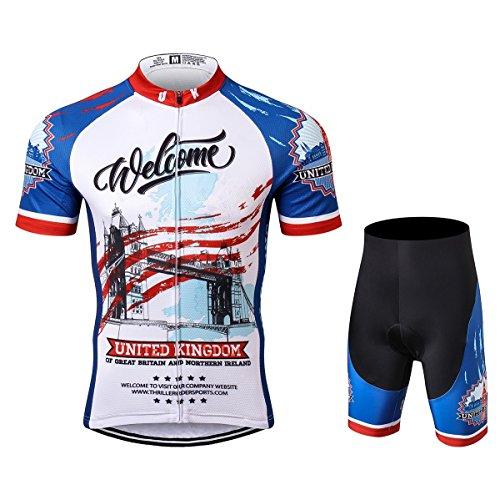 名目上の航空便空虚Thriller Rider Sports サイクルジャージ メンズ 男性自転車運動服装半袖 United Kingdom