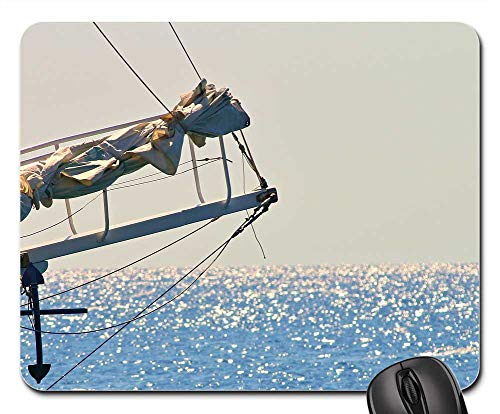 Mouse Pad - Sailing Vessel KlUver Jib Boom Ship Sea Water