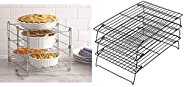 Betty Crocker 3-tier Oven Rack & Wilton Excelle Elite 3-Tier Cooling Rack for Cookies, Cakes and