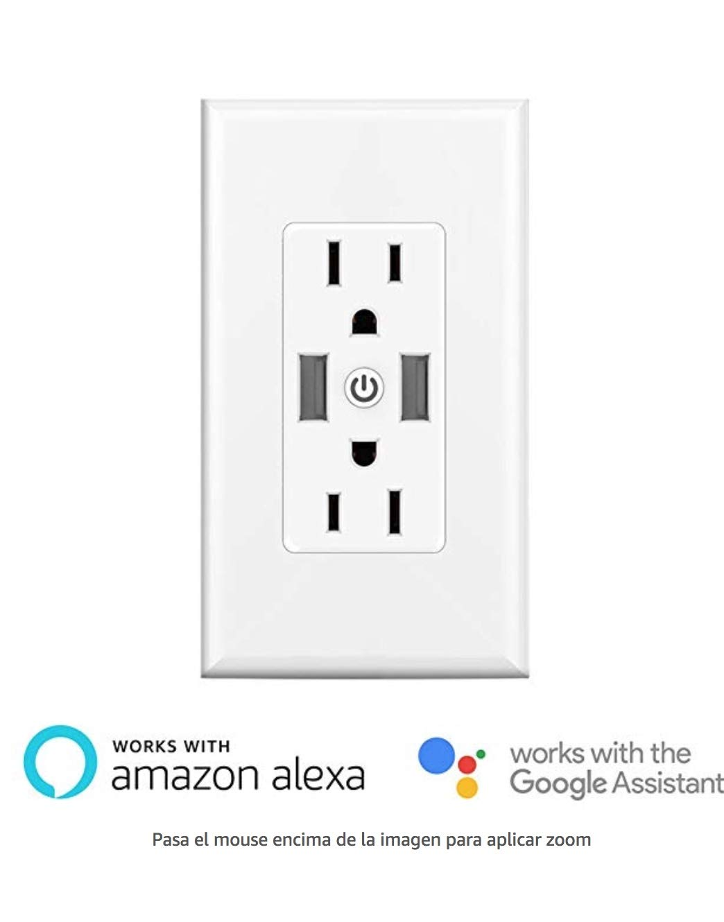 Smart Wall Outlets - Duplex Receptacle,Independently Controlled Top and Bottom Sockets, Work with Alexa Dot Echo Plus Google Assistant IFTTT,No Hub Required (1)