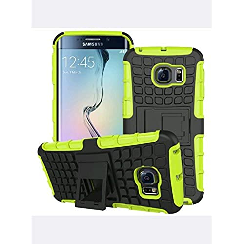 Galaxy S7 dual layer armor case with kickstand (yellow-green) Sales