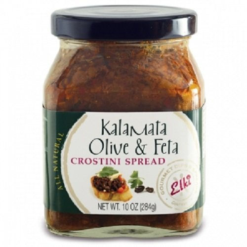 Elki's Gourmet Kalamata Olive and Feta Crostini Spread, 10 Ounce