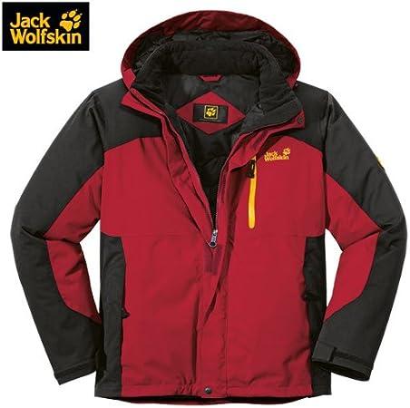 jack wolfskin winterjacke cold trail indian red
