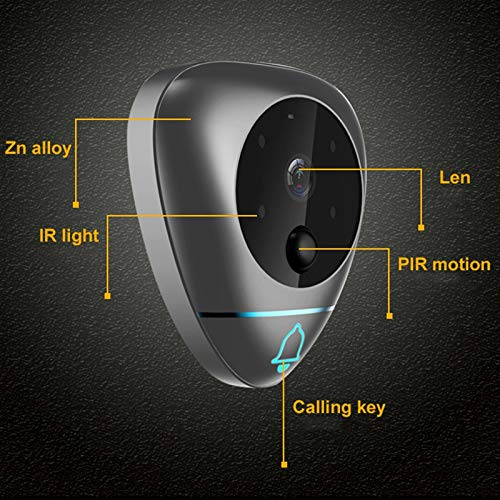 TOOGOO 4 Inch Smart Video Doorbell Wireless Peephole Viewer With T Auto-Taking Photos/Recording And Motion Detection by TOOGOO (Image #5)