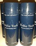 Follic Tech Medium Brown Hair Building Fibers 275 grams Total 10 - 27.5 Gram Shaker Bottles For The Price Of A Refill