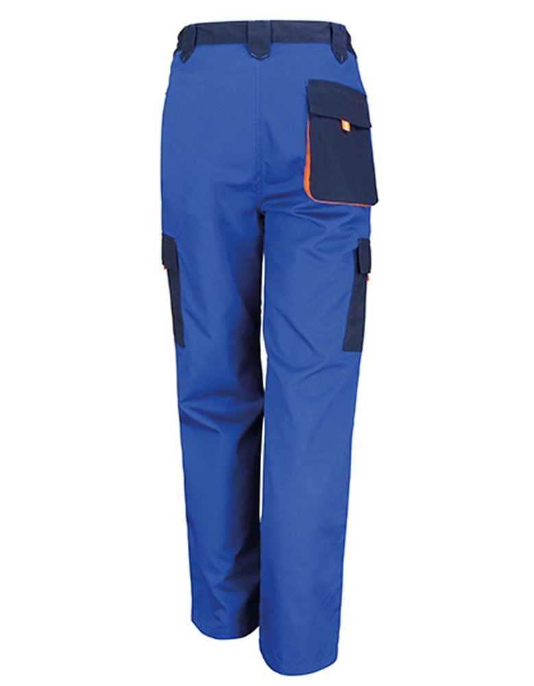 TALLA S. Resultado R318 X Work-Guard Lite Pantalones, Unisex, Color Royal/Navy/Orange, tamaño Small