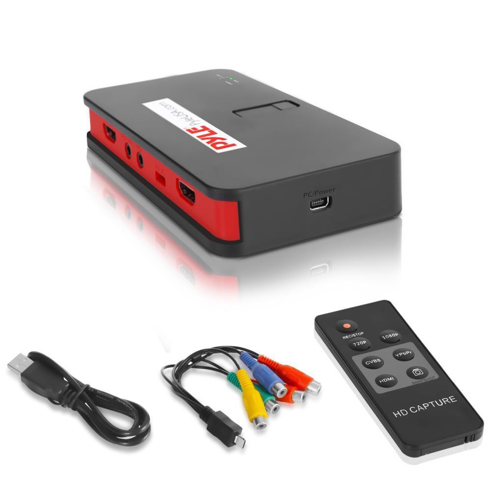 Pyle PVRC52.5 HD External Capture Card Video Recording System - Record Full HD 1080p Video