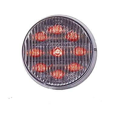 "Maxxima M09100RCL Red 2"" Round LED Clear Lens Clearance Marker Light: Automotive"