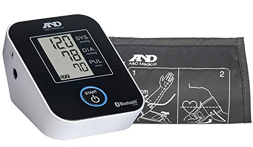 A&D Medical Deluxe Upper Arm Blood Pressure Monitor with Bluetooth (UA-651BLE) (Deluxe Automatic Blood Pressure Monitor)