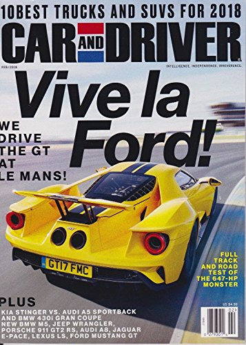 Car And Driver 10 Best >> Amazon Com Car And Driver Magazine Feb 2018 10 Best