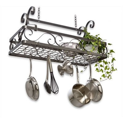 Enclume Decor Basket Hanging Pot Rack