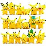 "OliaDesign Pokemon Pikachu Action Figures Toy (Lot of 18 Piece), 1.8"""