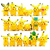 OliaDesign Pokemon Pikachu Action Figures Toy (Lot of 18 Piece), 1.8″