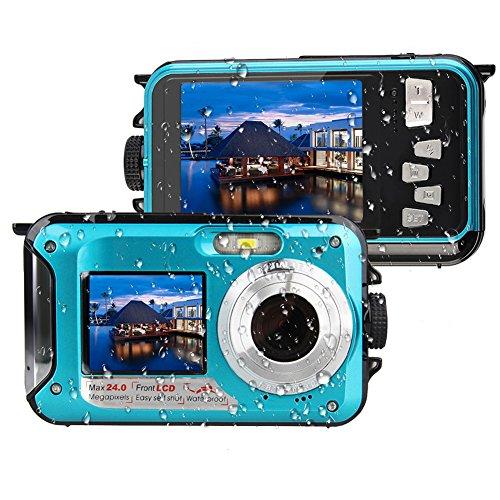 MARVUE 801S Underwater Digital Camera 24MP Waterproof Video Camcorder FULL HD 1080P Self Shot Dual Screen DV Recorder