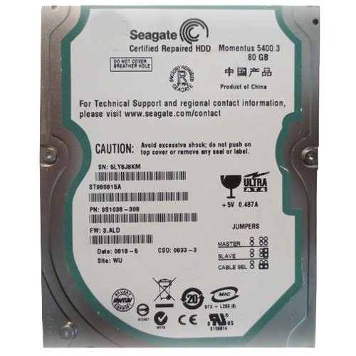 Price comparison product image St980815a Seagate 80Gb 2.5Inch Ata-100 5400Rpm Buffer: 8Mb Internal H
